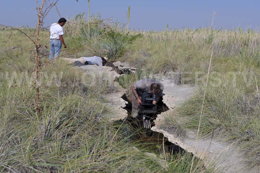 Tracing the course of underground springs in Quatro Cienegas, Mexico