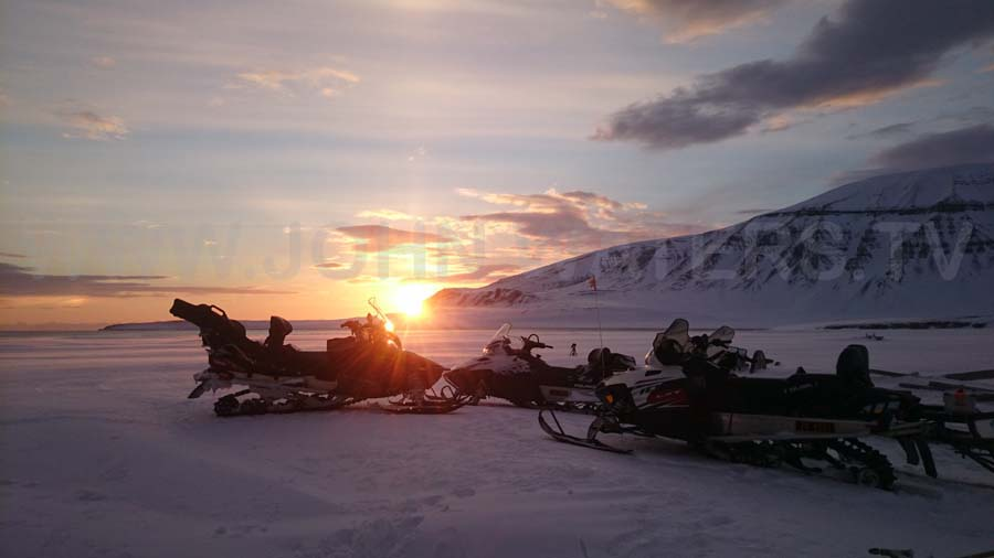 Sunset in Svalbard.